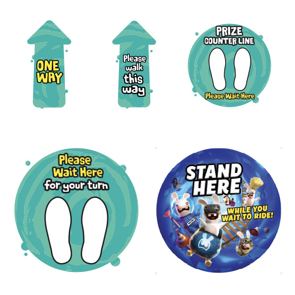 Virtual Rabbids Floor Stickers